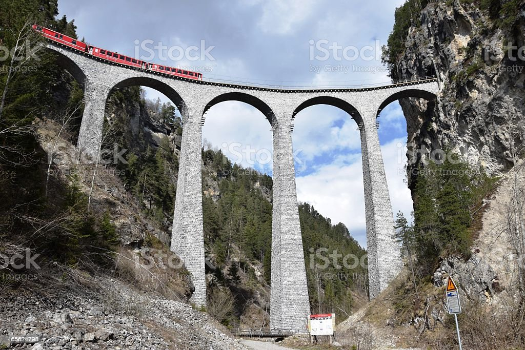'Landwasserviadukt' in Switzerland UNESCO World Heritage Site stock photo