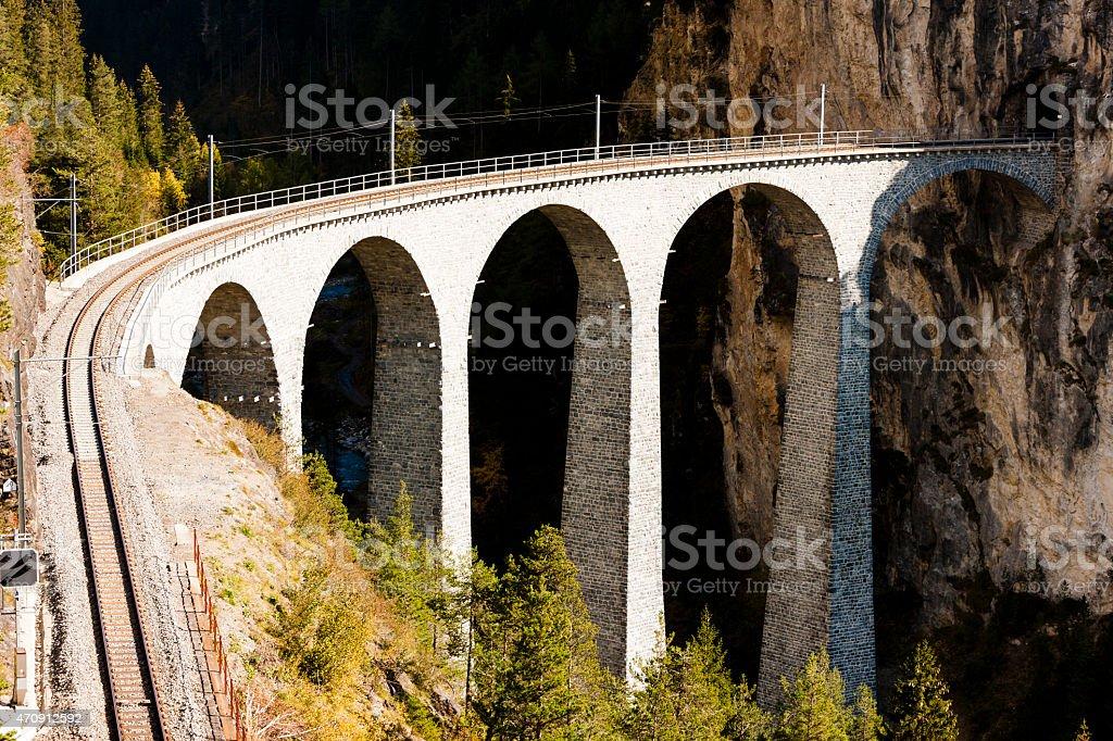 Landwasserviadukt stock photo