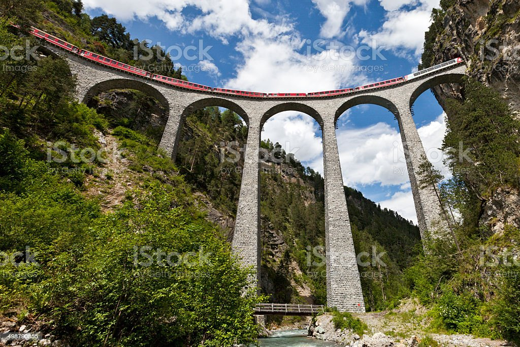 Landwasserviadukt stock photo