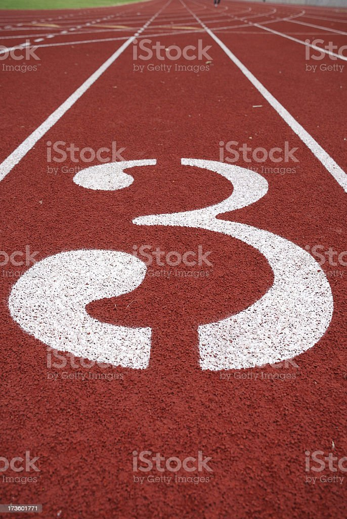 Lane 3 royalty-free stock photo