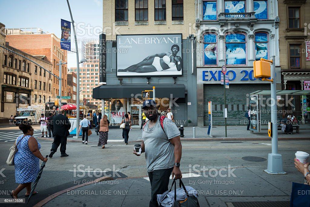 Lane Bryant billboard in Brooklyn, New York City stock photo