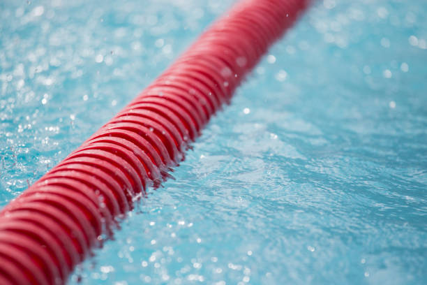 Close Up Of Red Swimming Pool Lane Line Pictures Images And Stock