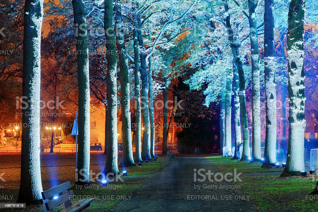 GLOW lane stock photo