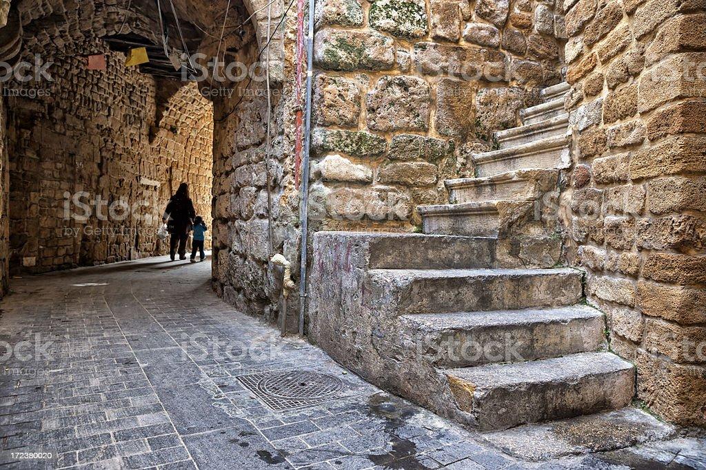 Lanes of Sidon, Lebanon stock photo