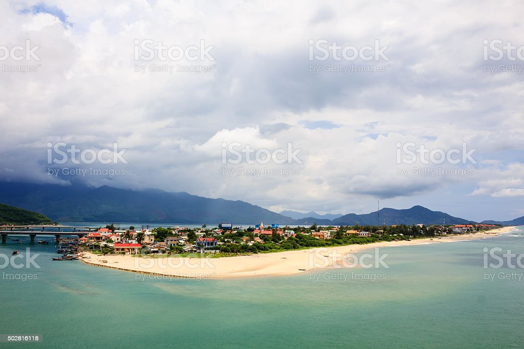 Lang Co beach, Hue province, Vietnam. stock photo