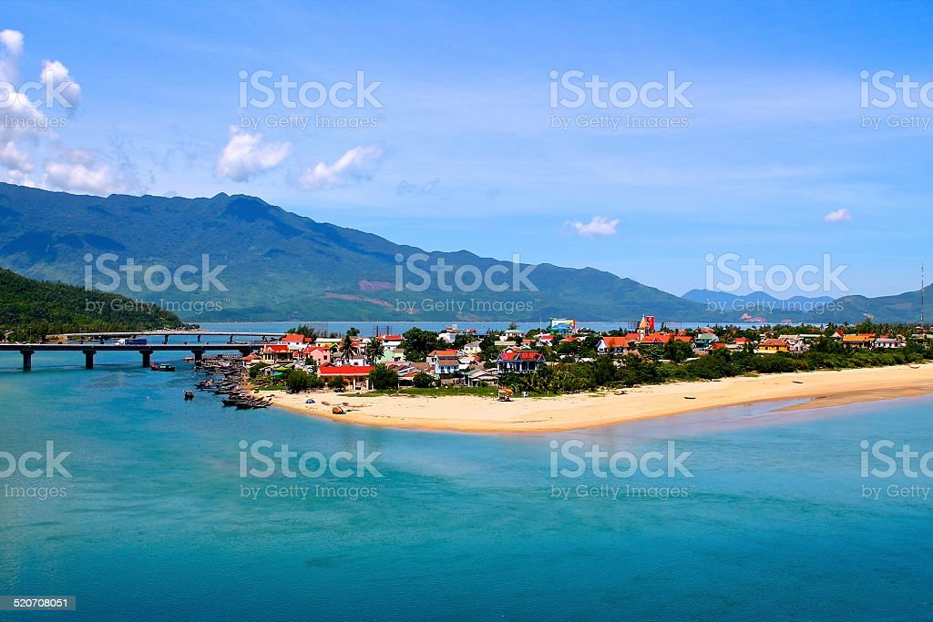 Lang Co Village, Vietnam stock photo
