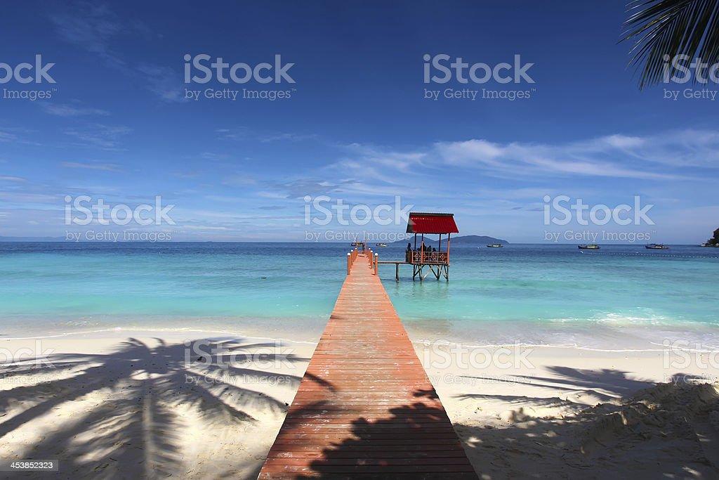 Lang Tengah Island Bridge royalty-free stock photo