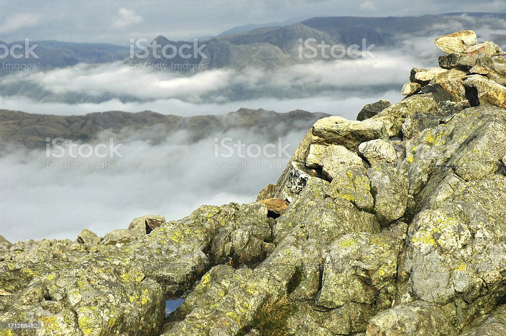 Langdale Pikes from Wetherlam stock photo