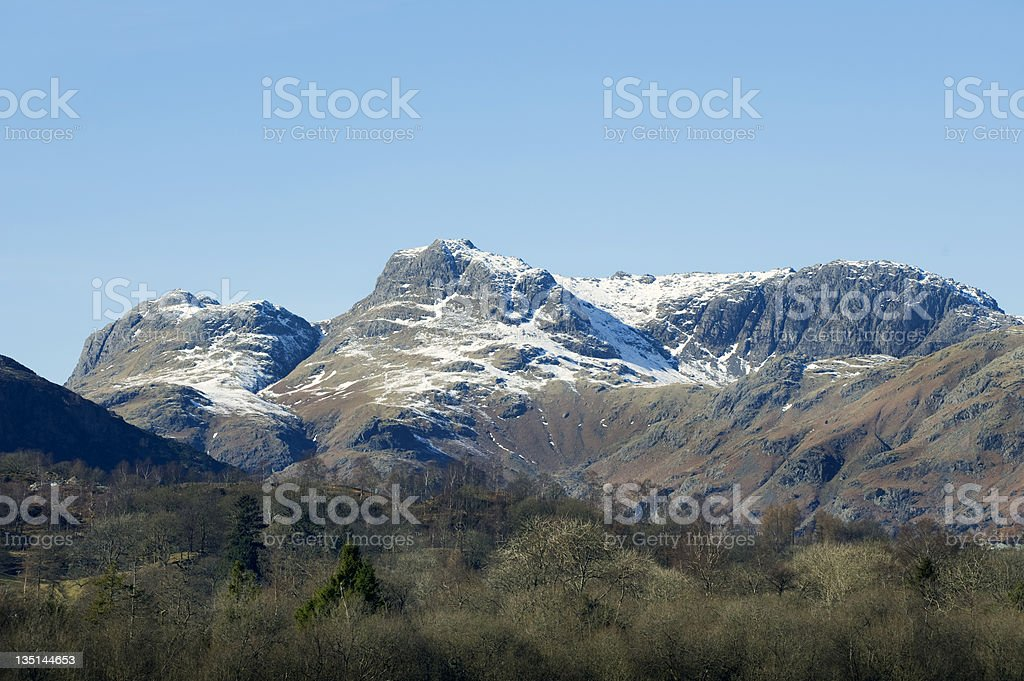 Langdale Pikes royalty-free stock photo