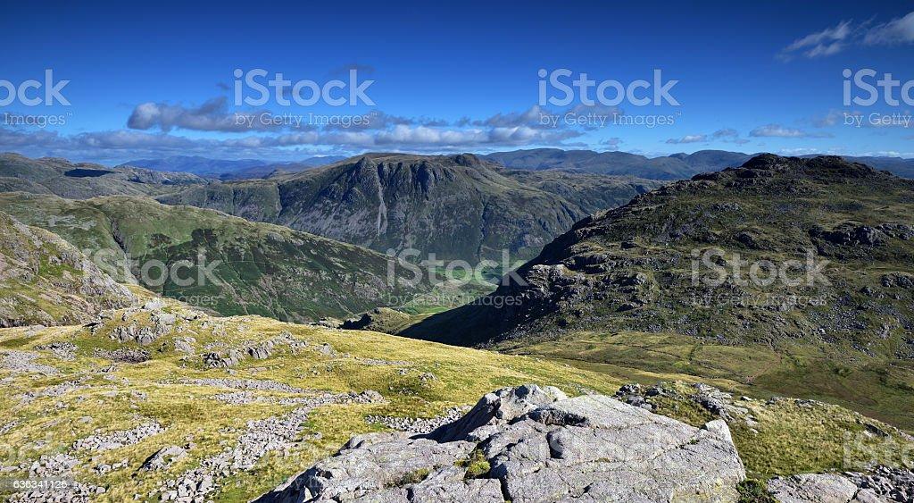 Langdale Valley Fells stock photo