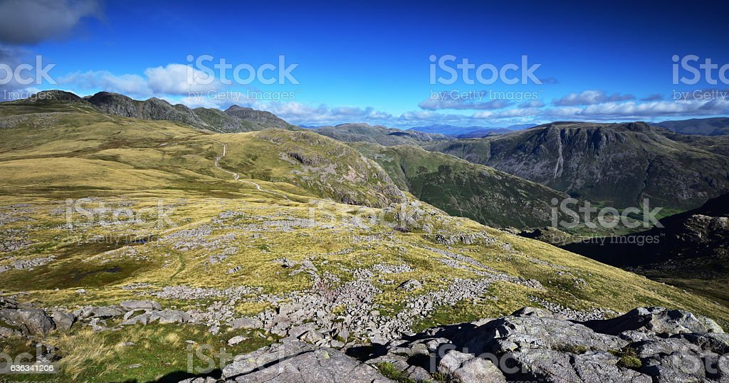 Langdale Valley Fells stock photo