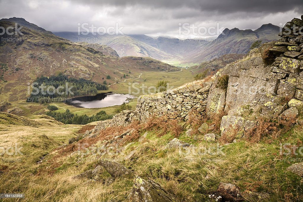 Langdale Valley in the English Lake District stock photo