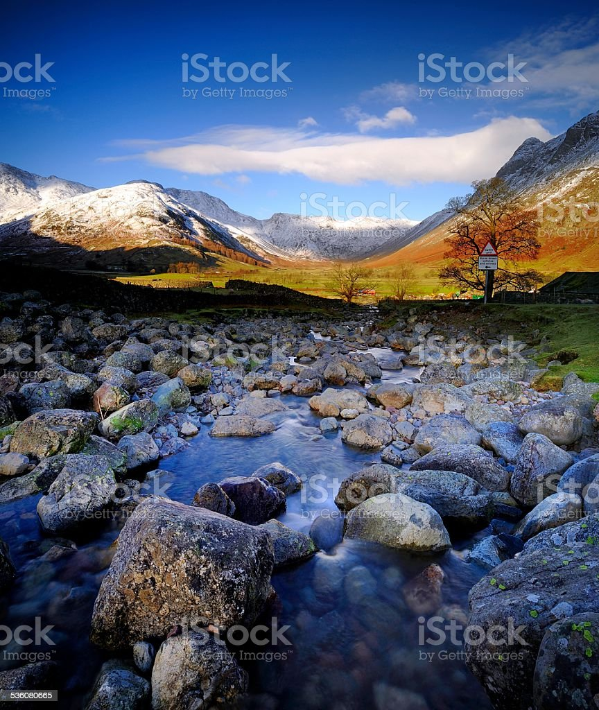 Langdale Valley stock photo
