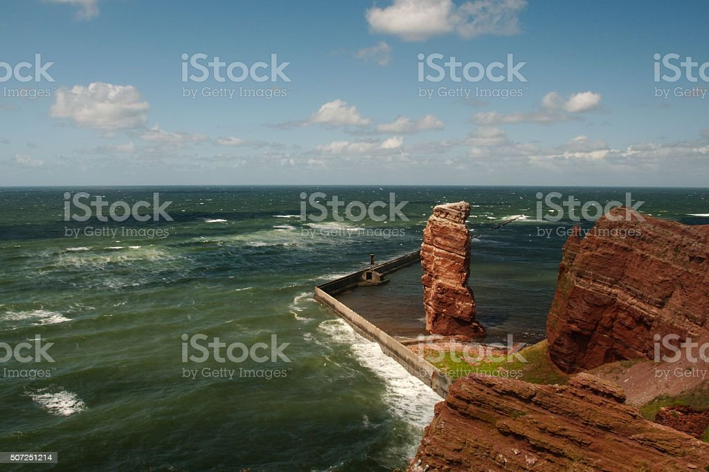 Lange Anna, Helgoland stock photo