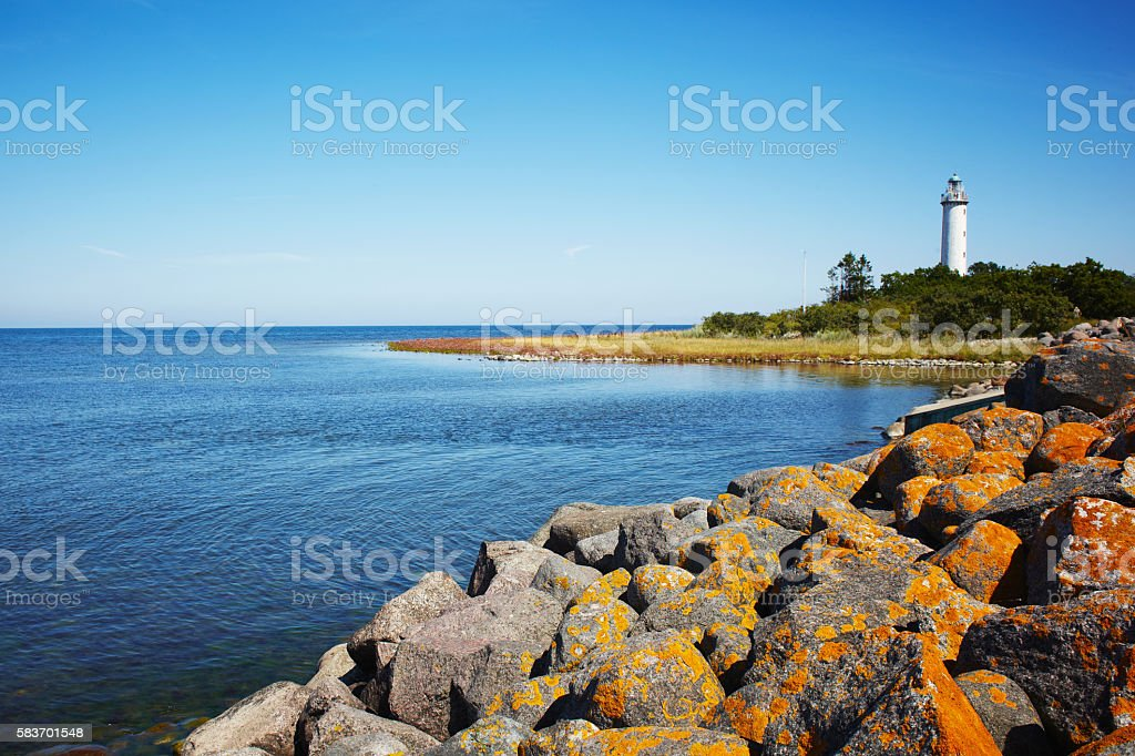 Lange Erik lighthouse stock photo