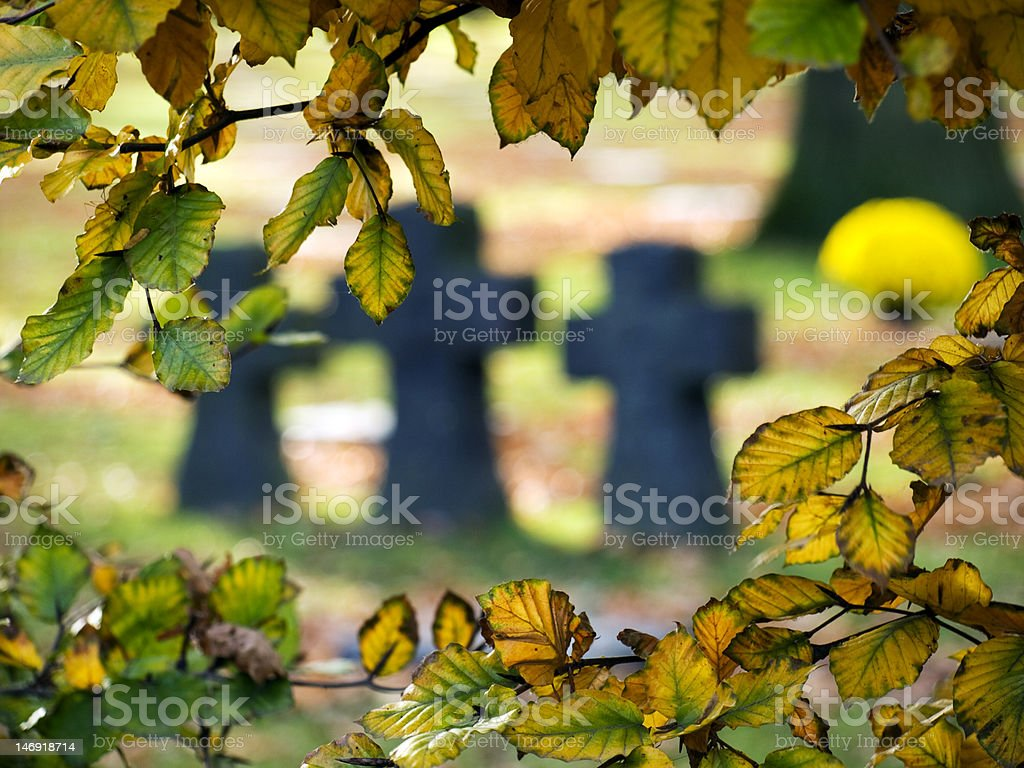 Langemark German Military Cemetery royalty-free stock photo