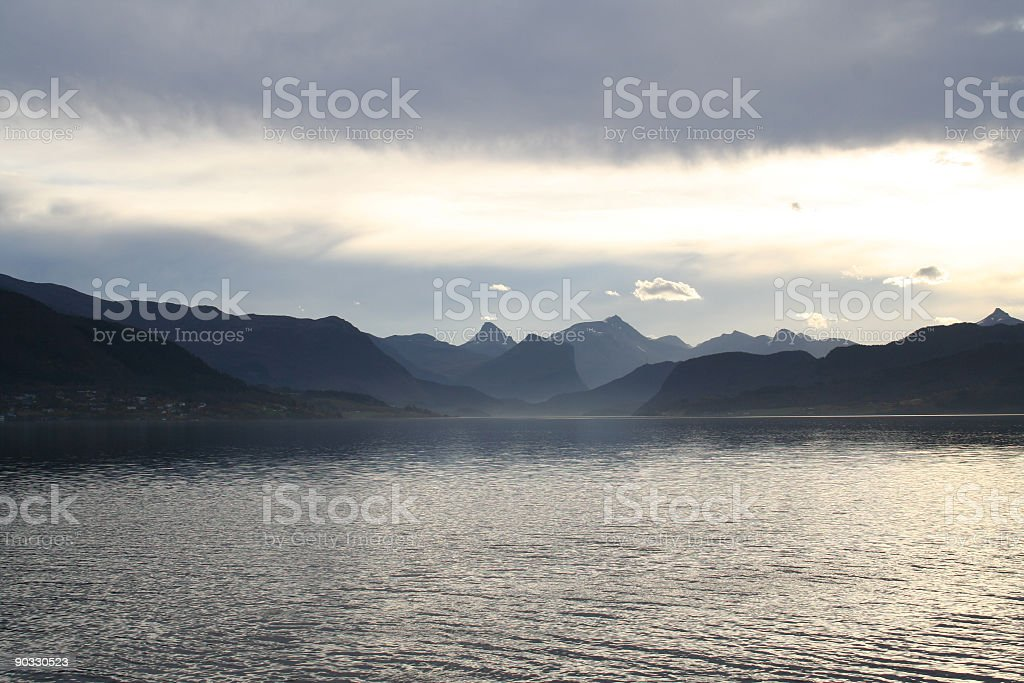 Langfjorden stock photo