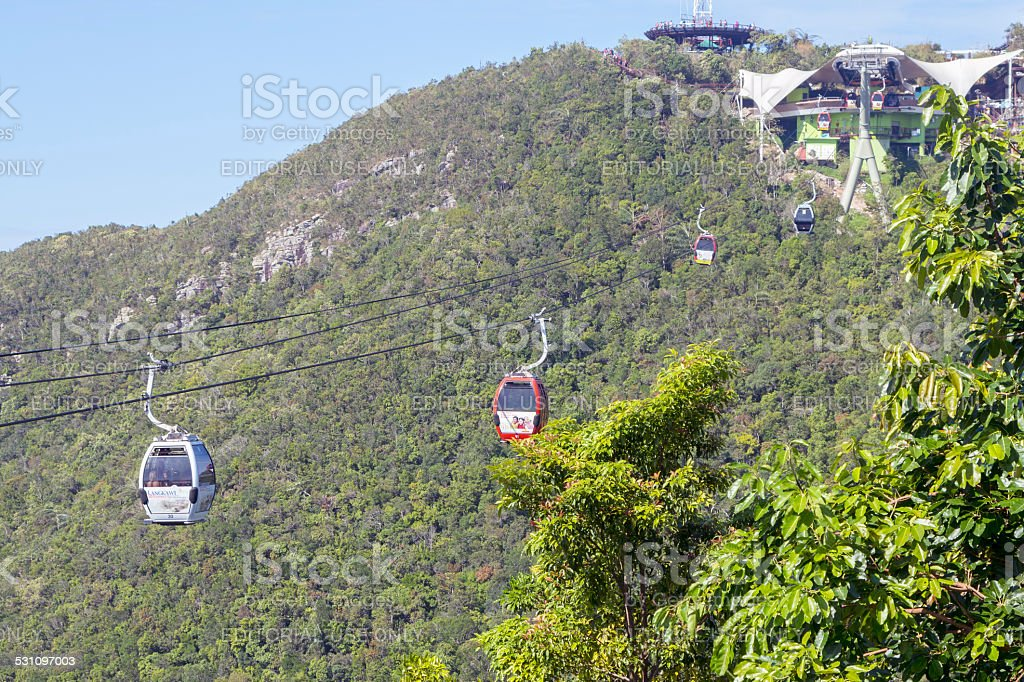 Langkawi cable car, Malaysia stock photo