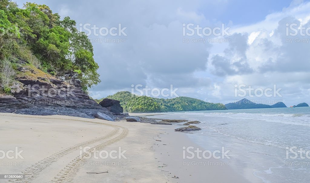 Langkawi island beach before the rain stock photo