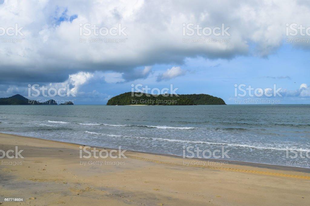 Langkawi island beach. Jewel of Kedah. Strait of Malacca. Nature of Malaysia stock photo