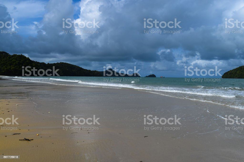 Langkawi island beach. Jewel of Kedah. Strait of Malacca. Nature of Malaysia stock photo