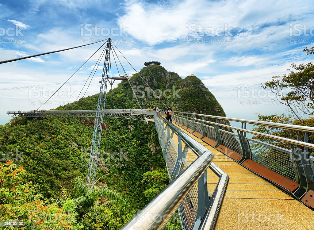 Langkawi Sky Bridge in Malaysia stock photo