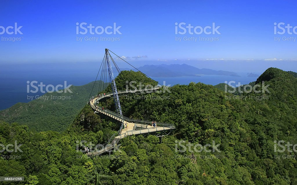 Langkawi Sky Bridge, Malaysia stock photo