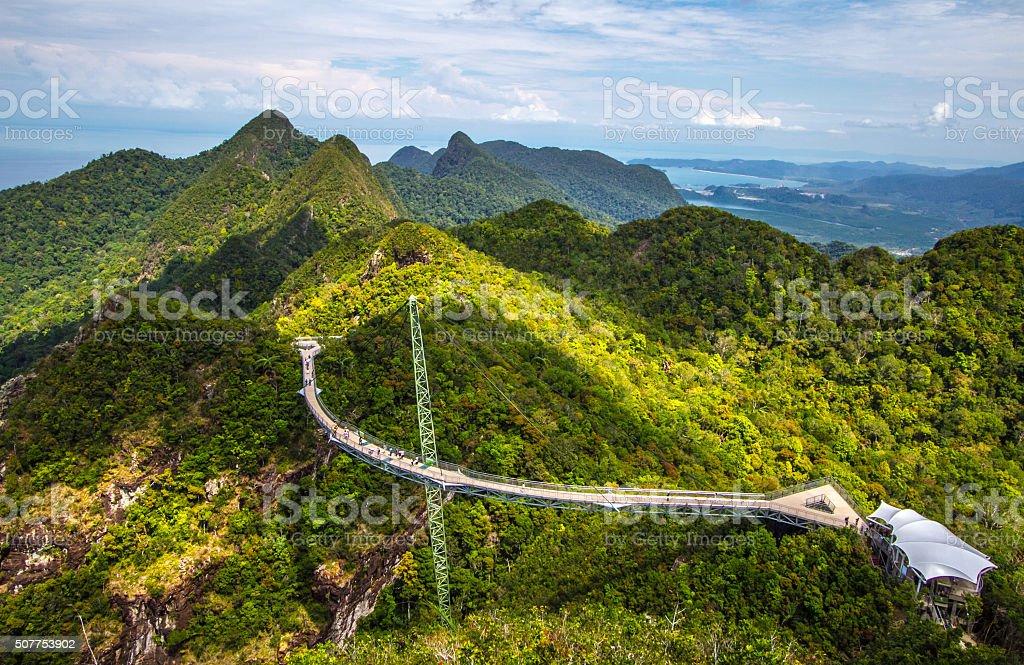 Langkawi Sky Bridge stock photo