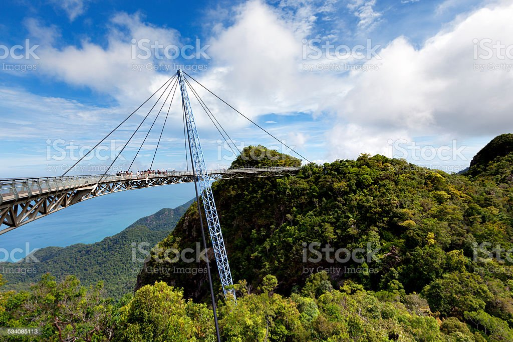langkawi sky bridge scenic view in malaysia stock photo