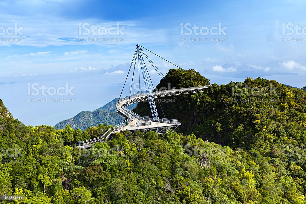 langkawi skybridge stock photo