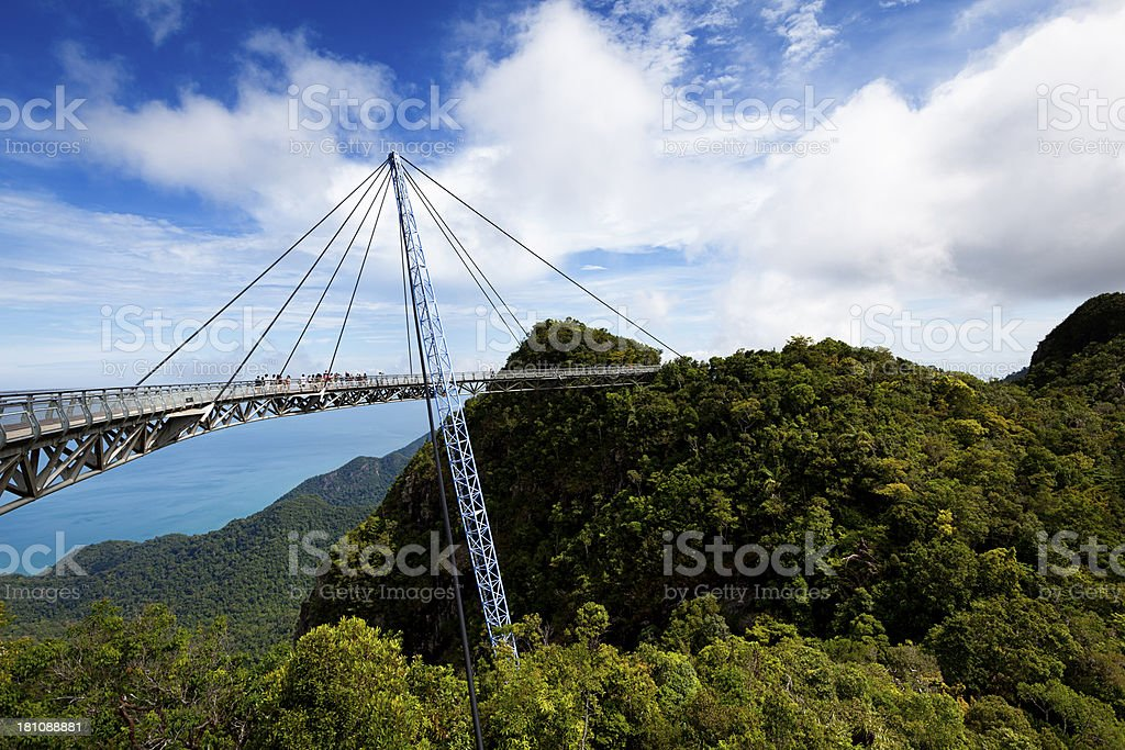 langkawi skybridge scenic view stock photo