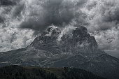 Langkofel in the clouds