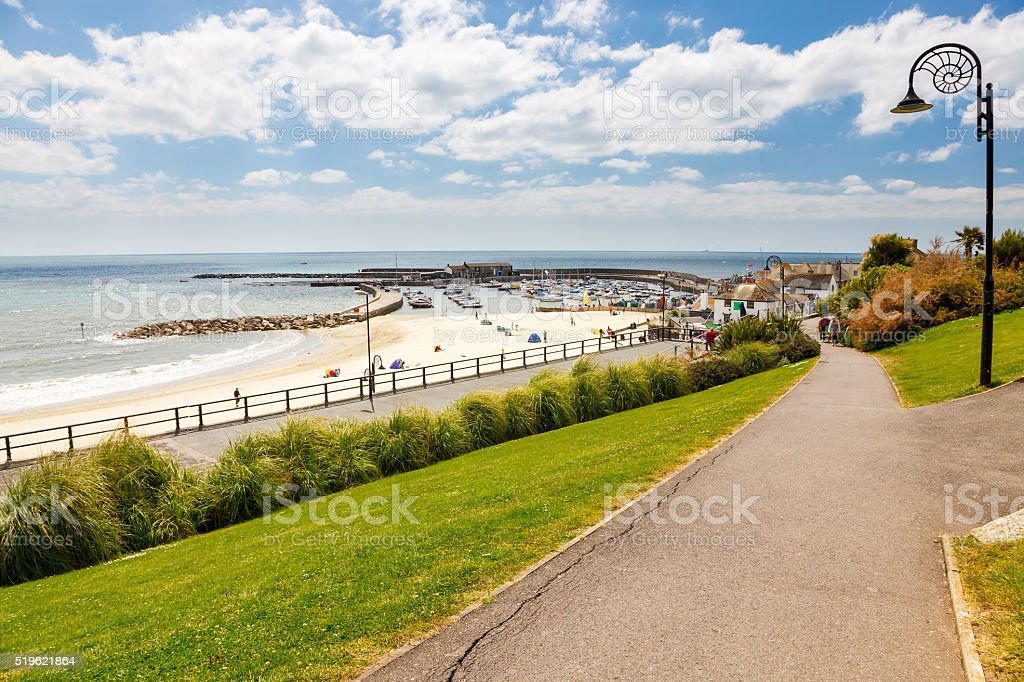 Langmoor and Lister Gardens Lyme Regis stock photo
