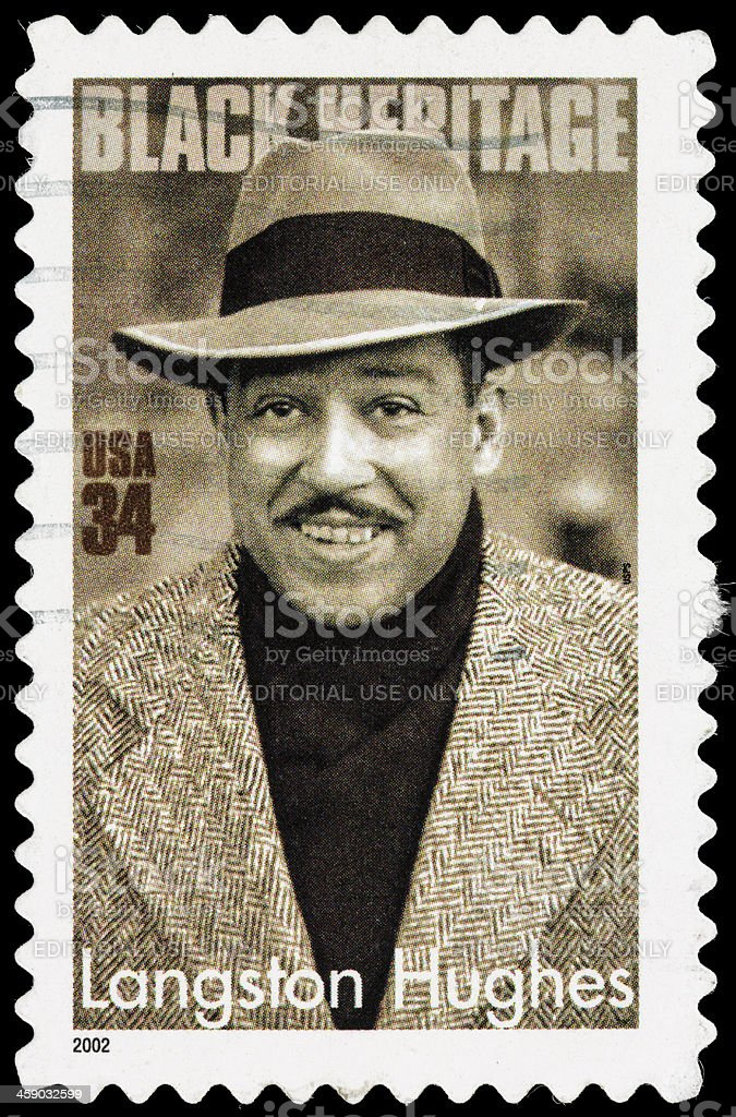 USA Langston Hughes postage stamp stock photo