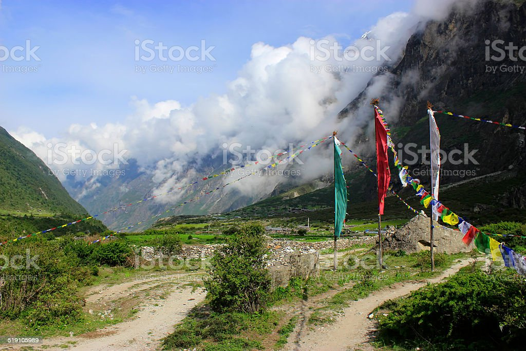 Langtang valley stock photo