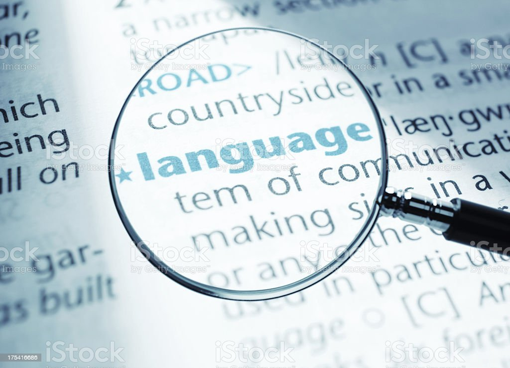 Language stock photo
