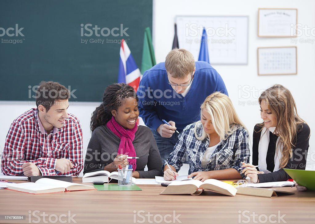 Language school. royalty-free stock photo