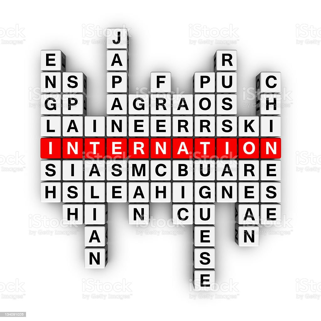 languages crossword royalty-free stock vector art