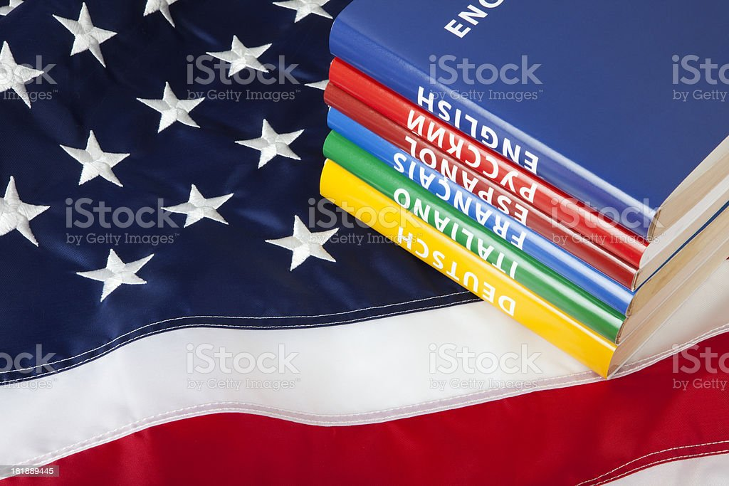 Languages in US royalty-free stock photo