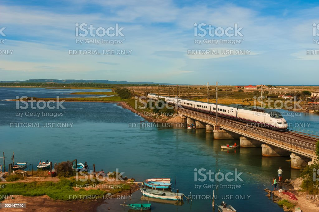 Languedoc by train stock photo