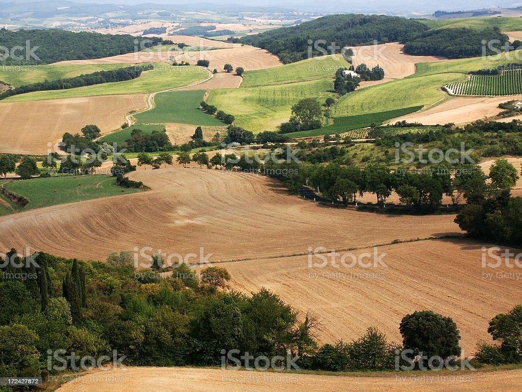 languedoc landscape royalty-free stock photo