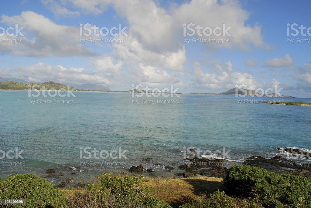 Lanikai Bay in Oahu, Hawaii royalty-free stock photo