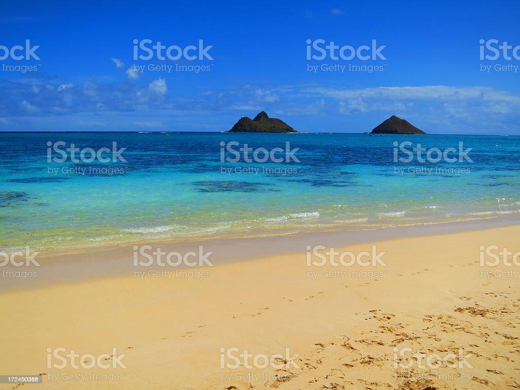 Lanikai Beach, Oahu, Hawaii royalty-free stock photo