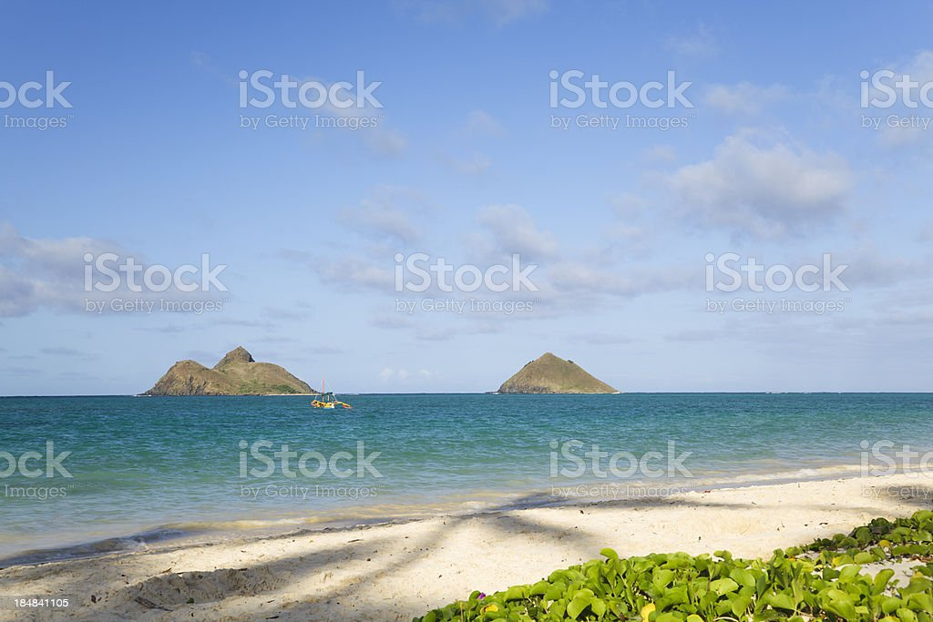 Lanikai Beach, Oahu, Hawaii stock photo