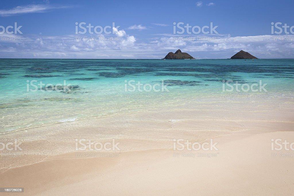 Lanikai Beach, Oahu royalty-free stock photo