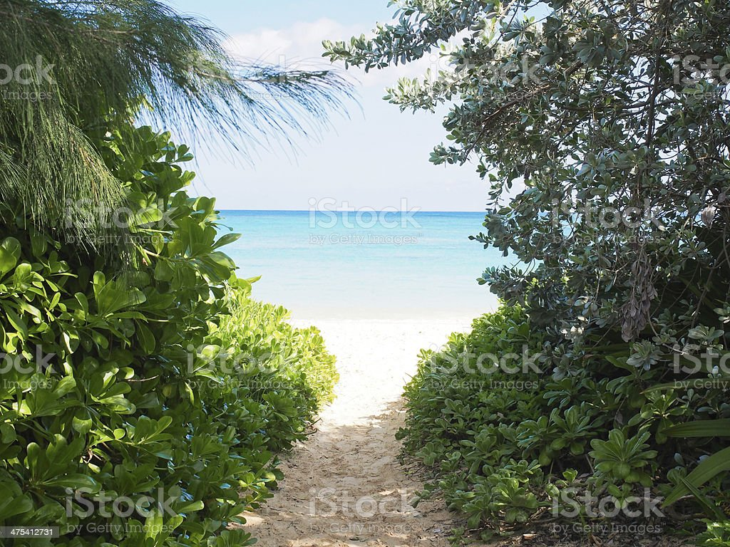 Lanikai Beach stock photo