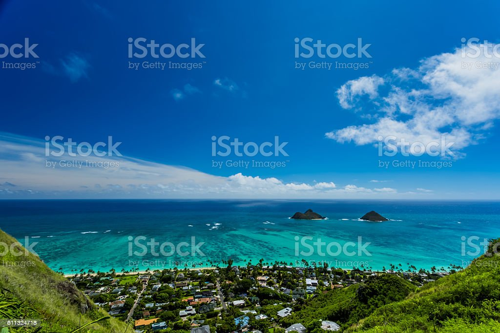Lanikai in Oahu Island stock photo