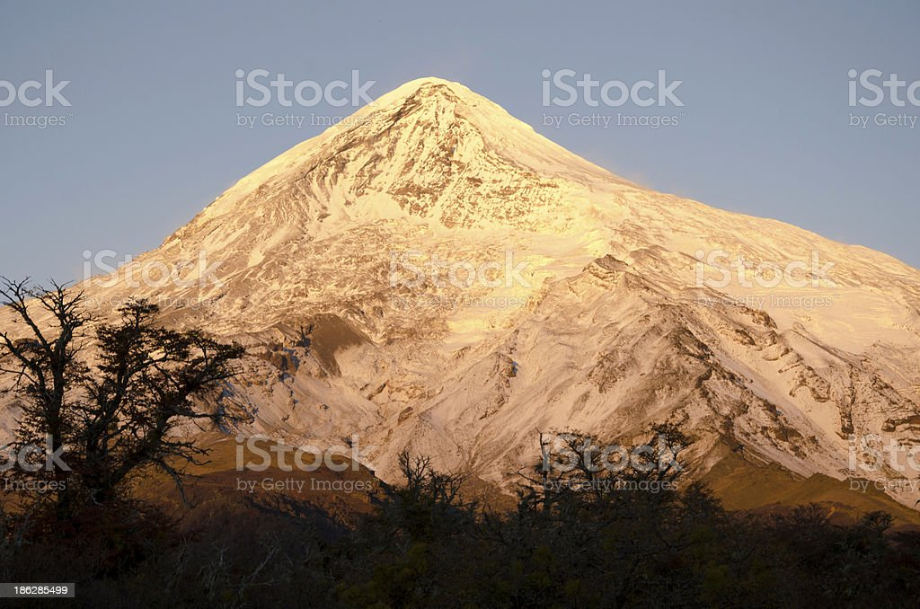 Volcan Lanin Al Amanecer royalty-free stock photo