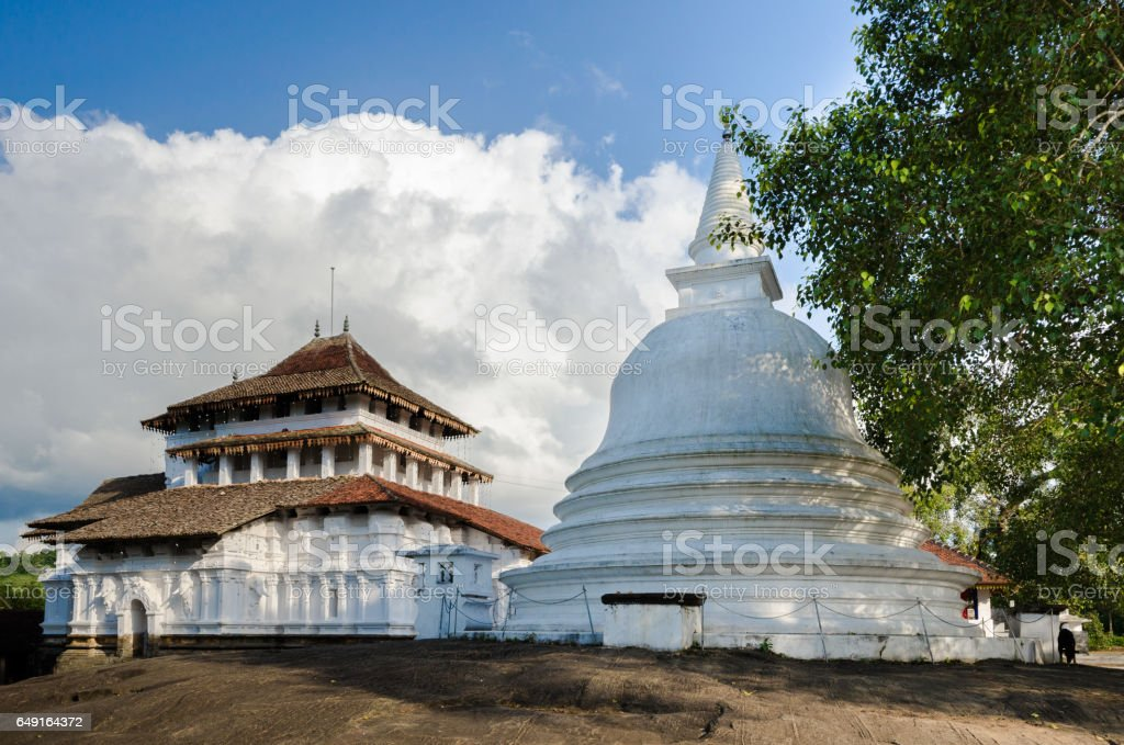 Lankatilaka Temple,Kandy, Sri Lanka vector art illustration