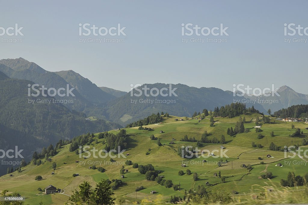 Lanscape at Fiss and Serfaus, Austria stock photo